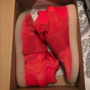 Red suede adidas
